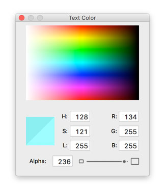 The Apple Colors palette