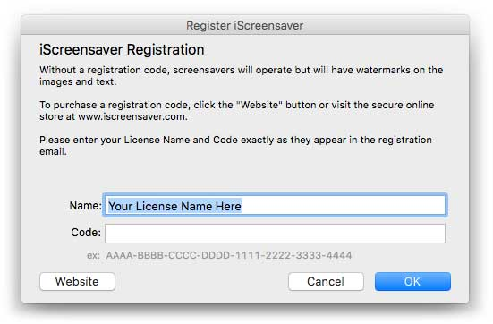 Preferences: Registration
