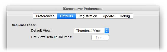 Preferences: Defaults