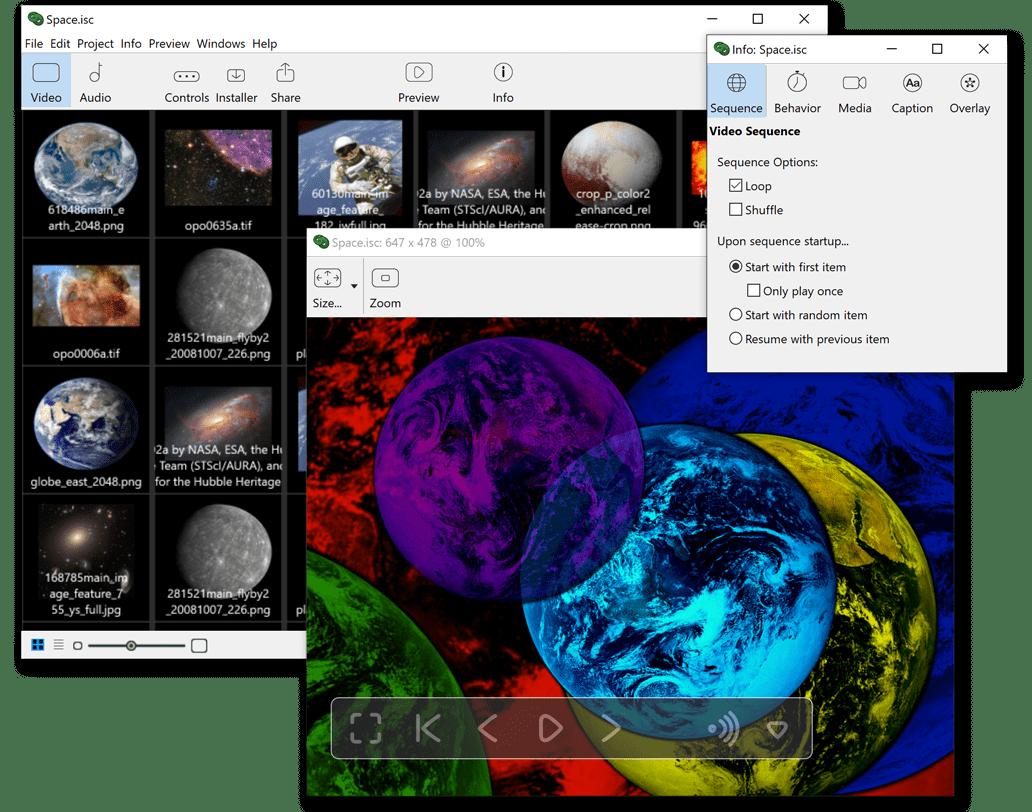 iScreensaver : Make Screensavers for Windows and macOS